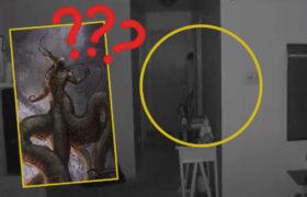 Mujer descubre un extraño fantasma con tentáculos saliendo de la habitación de su hijo