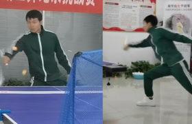 Artista marcial chino utiliza sus nunchaku para golpear 34 pelotas de ping-pong y batir el récord mundial